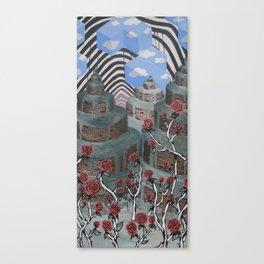 Flowers, Towers, Stripes & Cubes Canvas Print