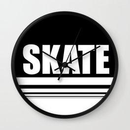 Skate the circle Wall Clock