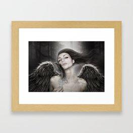 When Angels Break I Framed Art Print