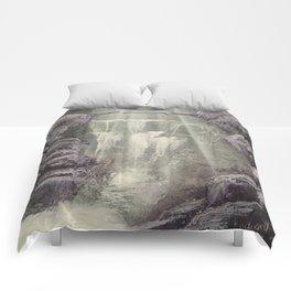 Purple Waterfall Comforters