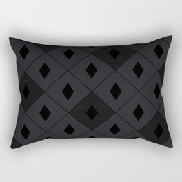 Harlequins - Midnight Black Rectangular Pillow