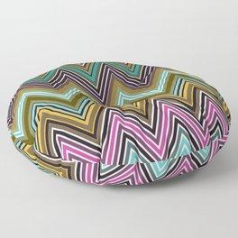 Zigzag Ultra Thin Lines Crochet  Pattern Floor Pillow