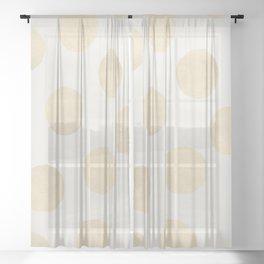 Gold Polka Dots Sheer Curtain