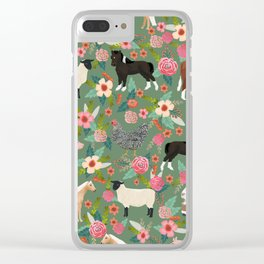 Farm gifts chickens cattle pigs cows sheep pony horses farmer homesteader Clear iPhone Case