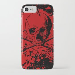 Skull and Crossbones Splatter Pattern iPhone Case