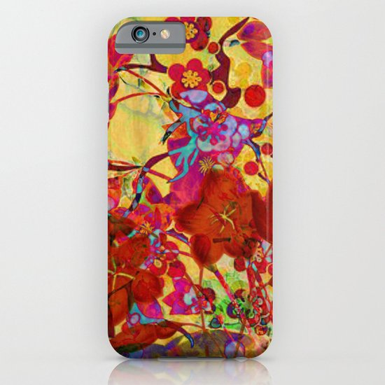 floral on yellow iPhone & iPod Case
