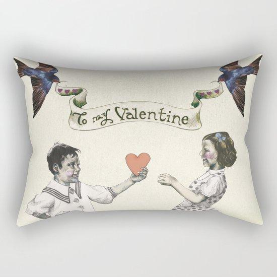 To My Valentine Rectangular Pillow