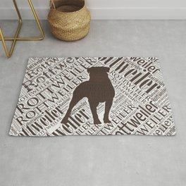 Rottweiler Word Art Rug