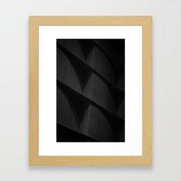 Dark Corners (black and white) Framed Art Print