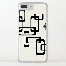 Atomic Era Minimalism Clear iPhone Case