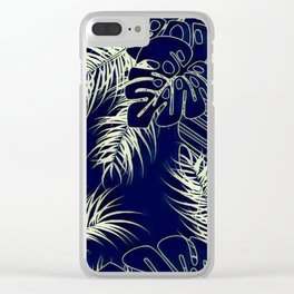 Tropical Blues Clear iPhone Case