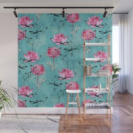 Waterlily dragonfly Wall Mural