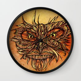 Face Flow Color Wall Clock