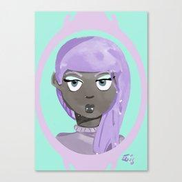 Pastel Vampire Woman Canvas Print