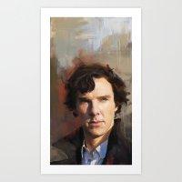 sherlock holmes Art Prints featuring Sherlock Holmes by Wisesnail