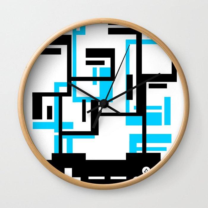8-BIT JOYSTICK (BLUE AND BLACK) Wall Clock