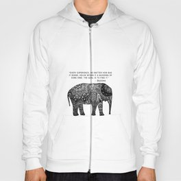 Buddha Quote with Henna Elephant Hoody