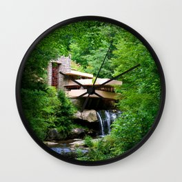 Frank Lloyd Wright's Fallingwater Wall Clock