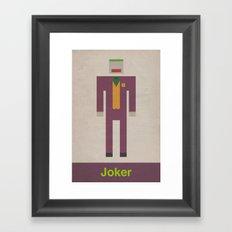 Retro Joker Framed Art Print