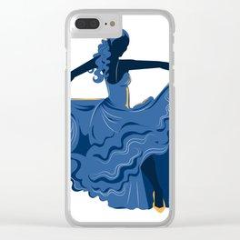 Flamenco Dancer 1 Clear iPhone Case
