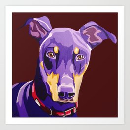 Boozer the Doberman Pinscher - Pet Portrait Art Print