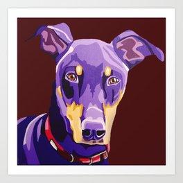 Boozer the Doberman Pinscher - Pet Portrait Art Print