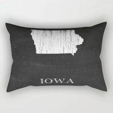 Iowa State Map Chalk Drawing Rectangular Pillow