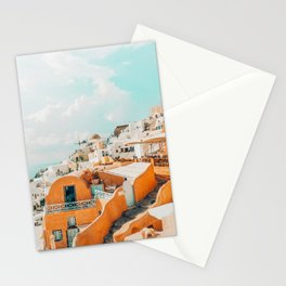 Santorini #travel #greece Stationery Cards