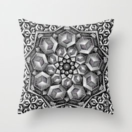 Isometric aspirations Throw Pillow