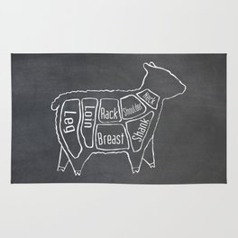 Lamb Butcher Diagram (Sheep Meat Chart) Rug