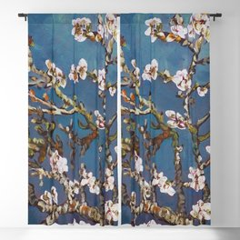 Vincent van Gogh Pink Blossoming Almond Tree (Almond Blossoms) Blackout Curtain