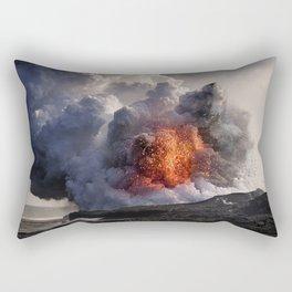 Kilauea Volcano at Kalapana 8 Rectangular Pillow