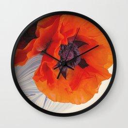Beautiful Poppy Wall Clock