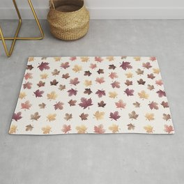 Golden Fall Leaves Rug