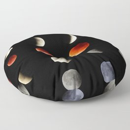 Super Moon eclipse photo collection (4-5)  Floor Pillow