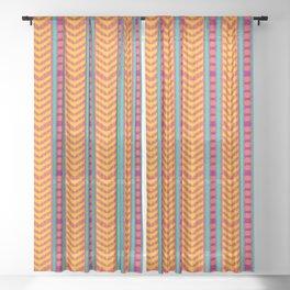 Ikat Stripes (pink) Sheer Curtain