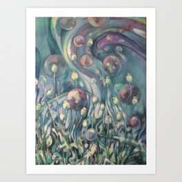 poppy dreams Art Print