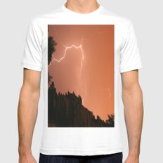 Pink Flash White MEDIUM Mens Fitted Tee