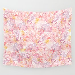 Pastel Flowers Wall Tapestry