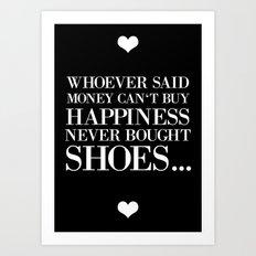 happiness black Art Print