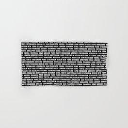 Famous City pattern black & White Hand & Bath Towel