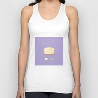 macaroon Tank Tops featuring Tea time by Henry Chang