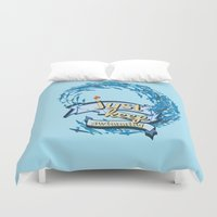 finding nemo Duvet Covers featuring just keep swimming.. finding nemo by studiomarshallarts
