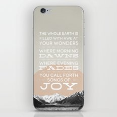 Psalm 65:8 iPhone & iPod Skin