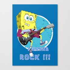 i wanna rock !!! Canvas Print