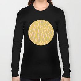 Organic Abstract Yellow Lime Long Sleeve T-shirt