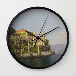 Villa at Lake Como Wall Clock