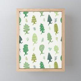 Run Forest Run Pattern Framed Mini Art Print