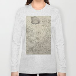 Artic Map / 1780 Long Sleeve T-shirt
