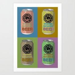 Lost Beer Art Print